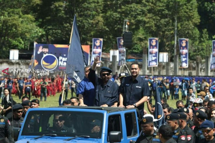 Sepekan birukan Sulawesi, Surya Paloh: Jokowi menang, NasDem tiga besar