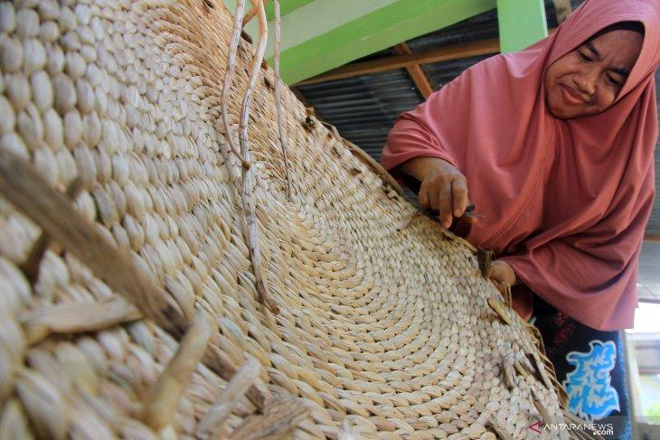 Desa Pela kembangkan industri berbahan baku enceng gondok