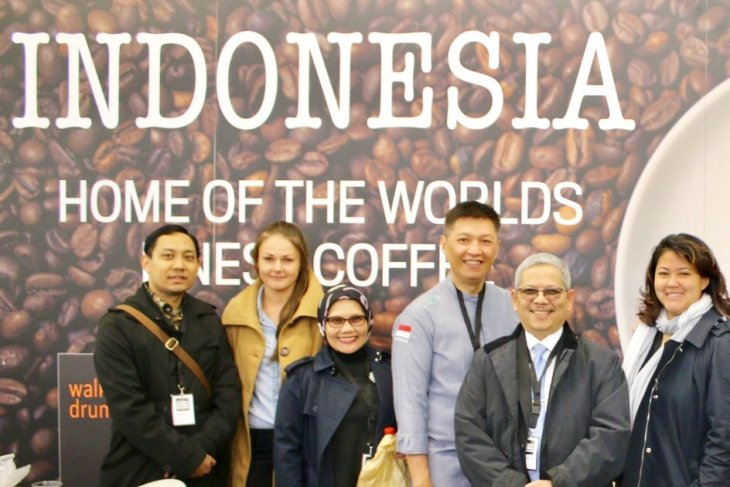 Ini dia, Paviliun Indonesia dipadati pengunjung pada London Coffee Festival