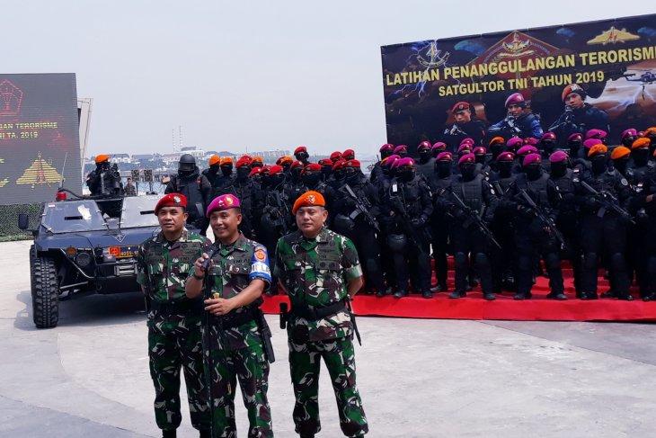 Pasukan gabungan TNI gelar latihan penanggulangan terorisme di Ancol