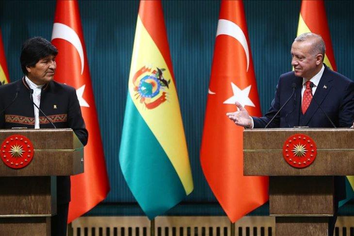Presiden Turki puji dukungan Bolivia untuk Palestina