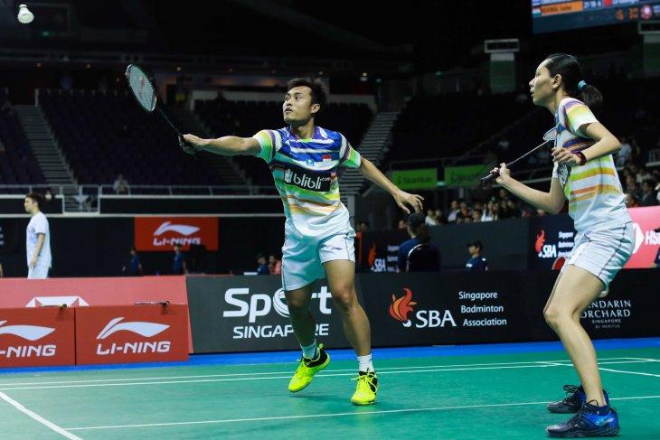 Hafiz/Gloria melaju ke perempat  final Singapore Open