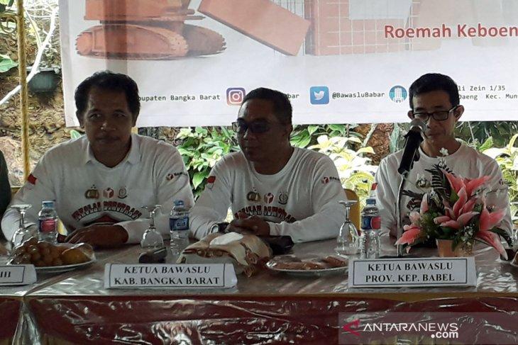 Bawaslu Bangka Barat imbau partai politik copot APK jelang masa tenang