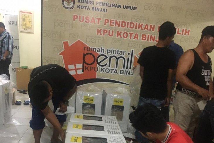 KPU Binjai rampungkan alat kelengkapan untuk TPS