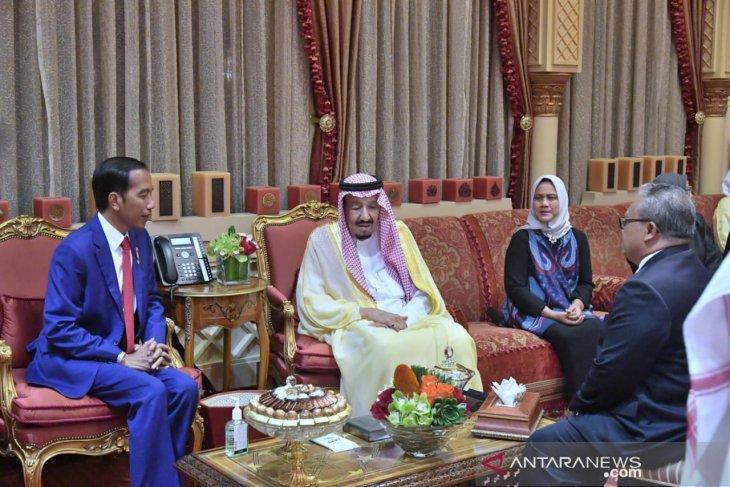 Presiden bertemu Raja Salman di Istana pribadi Raja di Riyadh