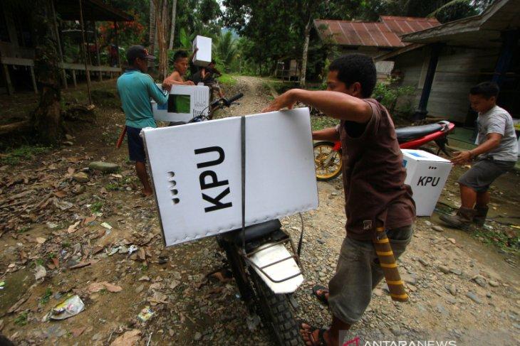 Puncak Distribusi Logistik Pemilu 2019 Di Desa Terpencil