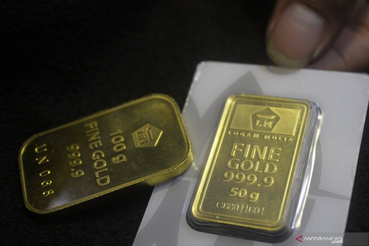 Harga emas berjangka ditutup lebih rendah
