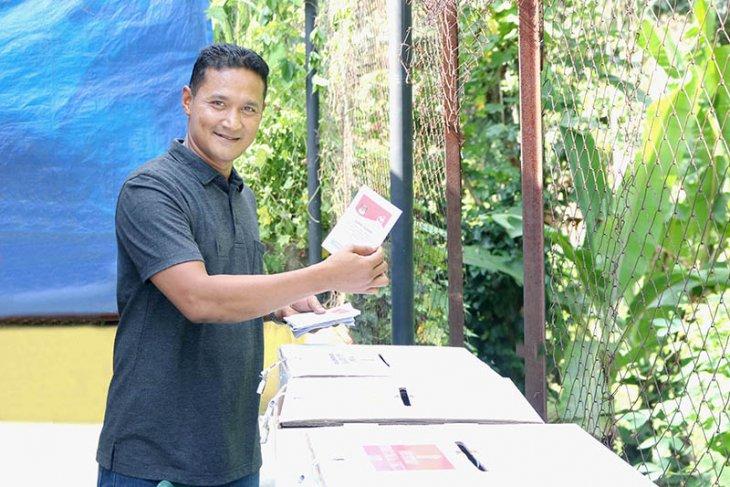 Pemilih antusias ke TPS di Sabang