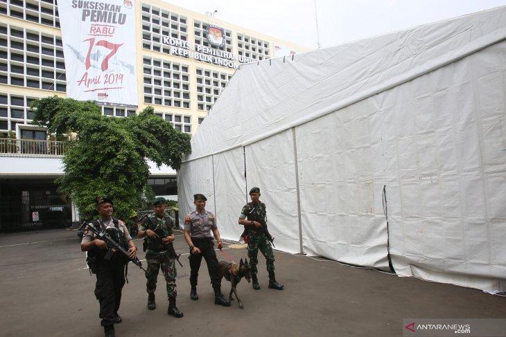 Polisi Siaga I usai KPU sampaikan hasil final rekapitulasi