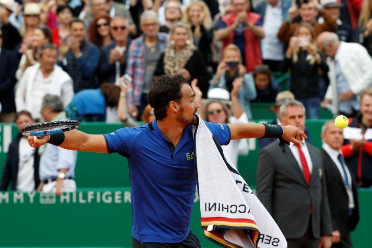 Fognini tumbangkan Nadal di Monte Carlo Masters