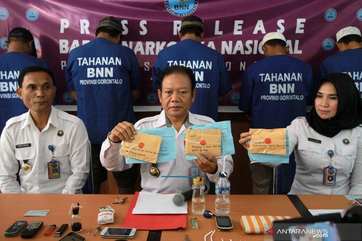 BNNP Gorontalo tangkap 5 pengedar narkoba antarprovinsi