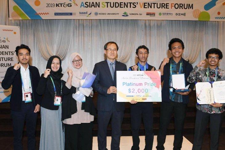 El equipo de la Universidad de Indonesia lleva el premio de platino en el Asian Students Venture Forum