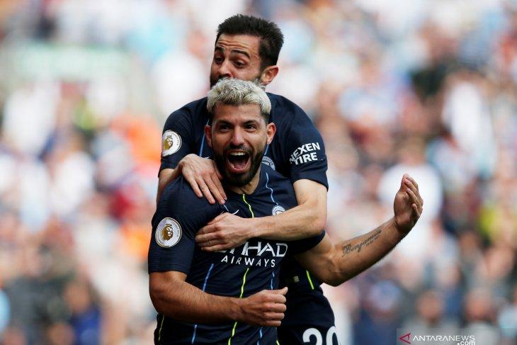 Gol tunggal Aguero bawa City geser Liverpool