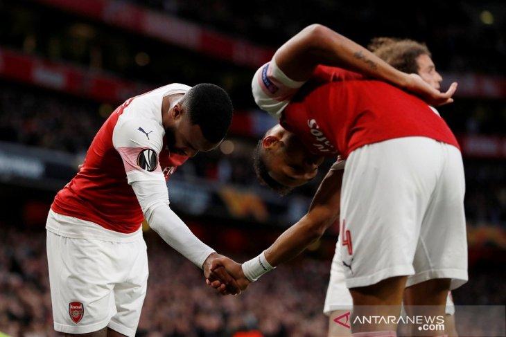 Lacazette dan Aubameyang antar Arsenal tundukkan Valencia 3-1