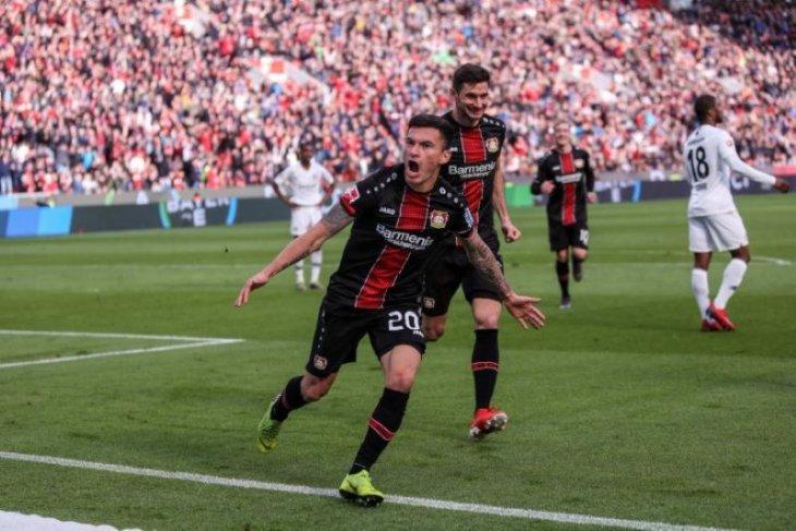 Leverkusen buka peluang ke Liga Champions setelah hantam Frankfurt 6-1
