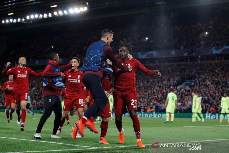 Liverpool lumat Barca dan melaju ke final