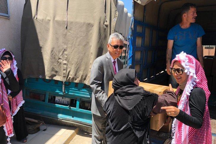 KBRI Amman berikan bantuan kemanusiaan bagi pengungsi  Palestina