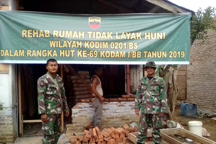 Koramil 16/TM Rehab 3 RTLH Warga Kurang Mampu