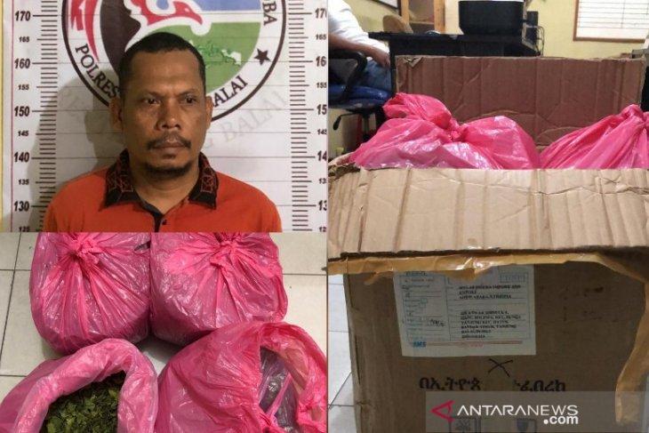 Polisi amankan pria penerima paket narkotika dari Etiopia