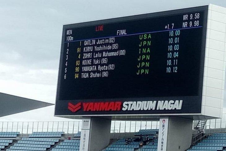 Zohri finis ketiga di Jepang dan pertajam rekornas