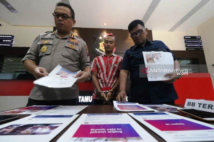 Polisi ciduk oknum honorer SD ancam Presiden Jokowi