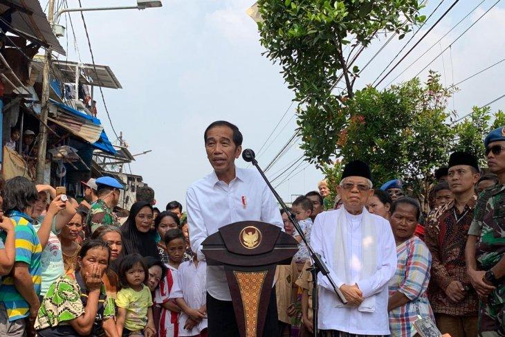 Jokowi umumkan kemenangan dan tegaskan siap emban amanah