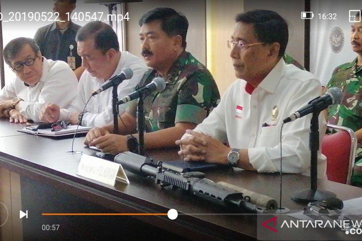 Panglima tegaskan bahwa TNI mendukung Polri tangani kerusuhan