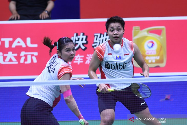 Langkah Greysia/Apriyani  terjegal Chen/Jia di semifinal Australia Open
