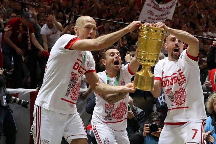 Bab terakhir Ribery, Robben dan Rafinha di Bayern Muenchen berhias dwigelar