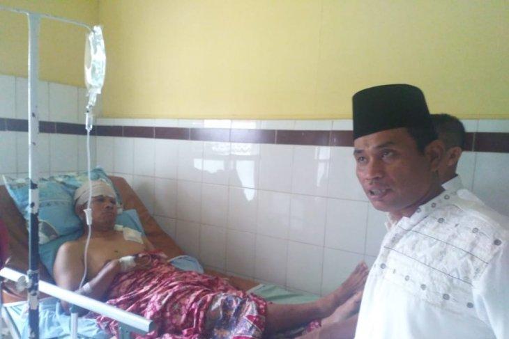 Alhamdulillah selamat, Faisal sempat diserang Harimau usai berbuka puasa di halaman rumahnya