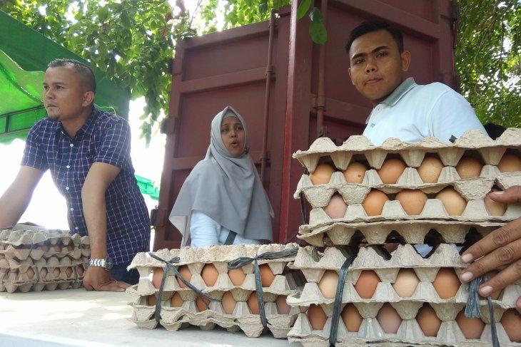 Permintaan telur meningkat di Pasar Tani Aceh
