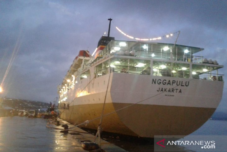 Puncak arus mudik lebaran di pelabuhan Ambon 2 Juni