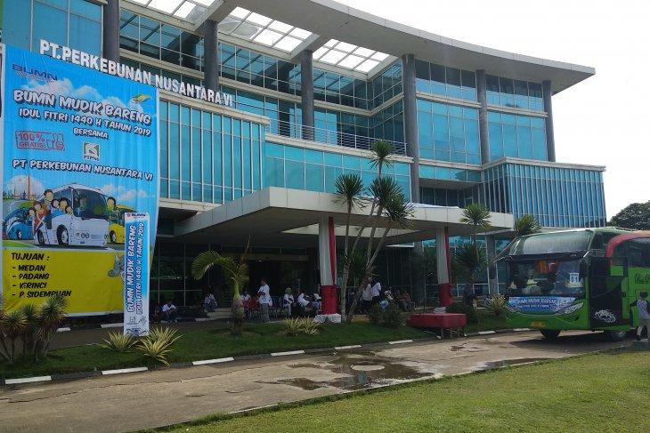 Program mudik gratis PTPN VI berangkatkan 1.120 orang