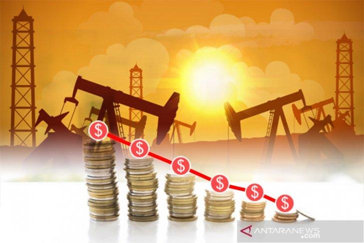 Harga minyak lebih rendah tertekan peningkatan produksi AS