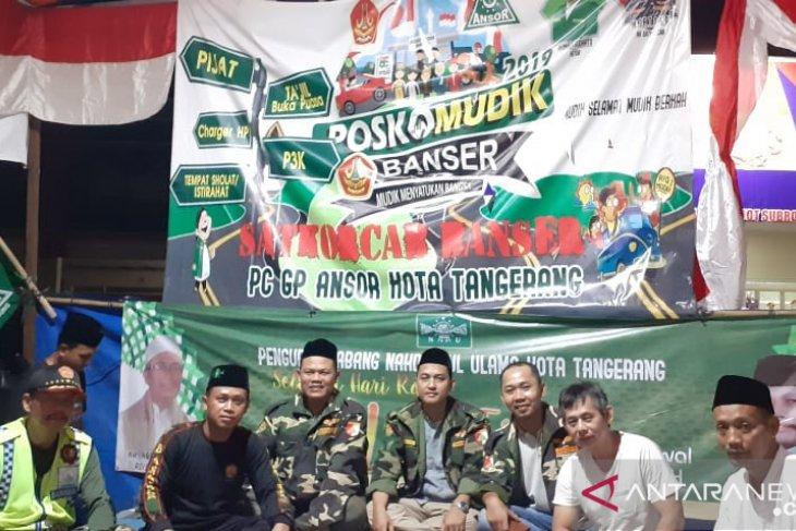 Posko Mudik Ansor Tangerang sediakan tempat istirahat untuk pemudik