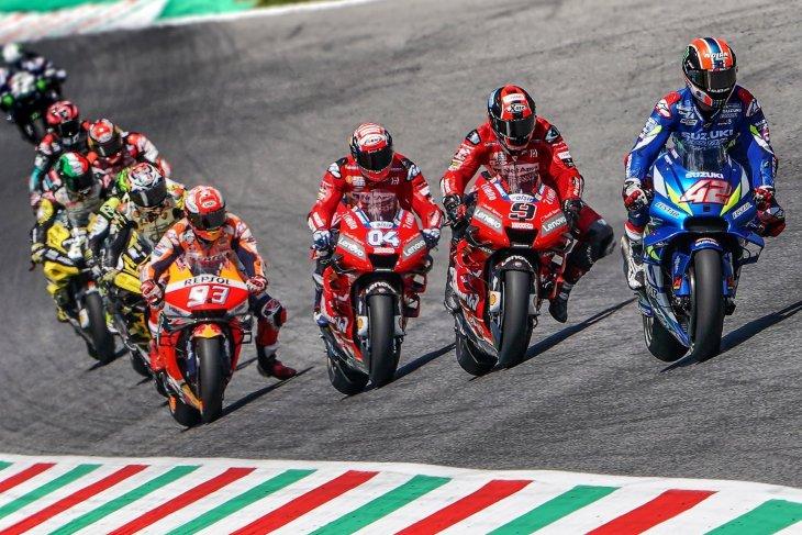 Serangan ganda Ducati repotkan  Marquez di Mugello