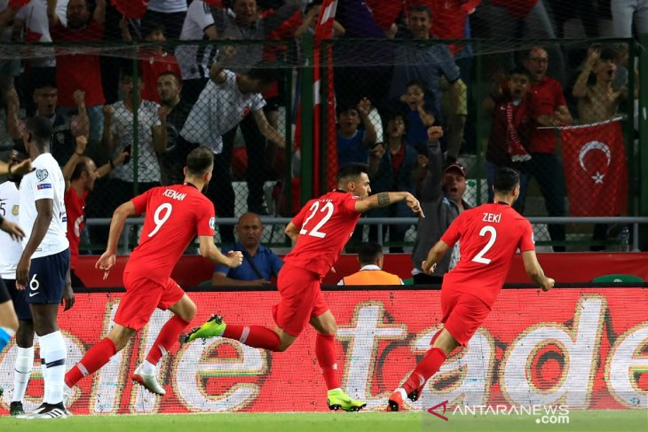 Prancis telan kekalahan 0-2 dari Turki di kualifikasi piala Eropa