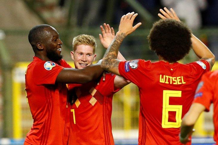 Timnas Belgia belum tergoyahkan di  Grup I