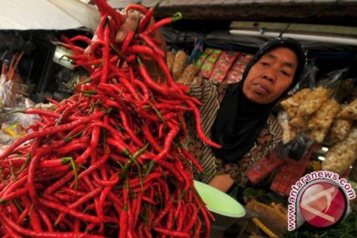 Pasokan berkurang, harga cabai naik Rp6.000 per kilogram