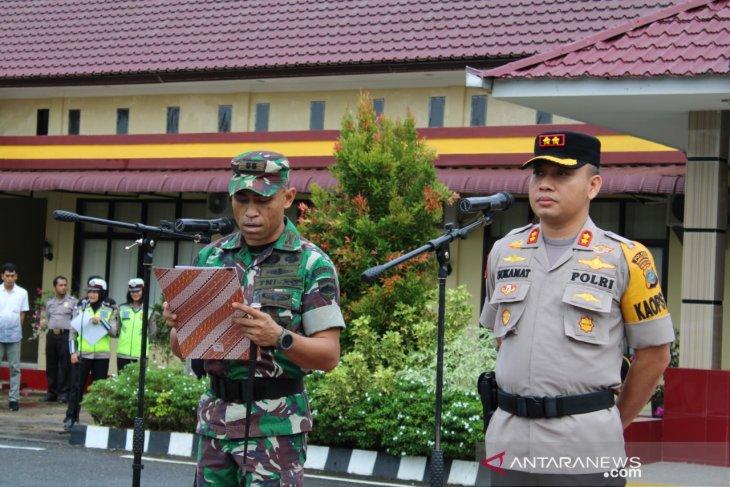 Apel konsolidasi operasi ketupat Toba 2019 Polres Tapanuli Tengah