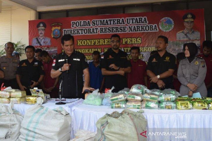 Polda Sumut ungkap kasus narkotika jaringan Malaysia