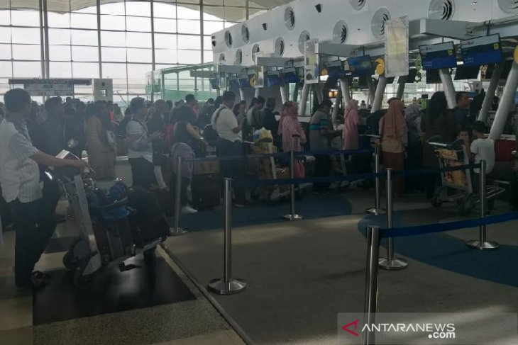H+7 keberangkatan domestik Bandara  Internasional Kualanamu 24 pesawat