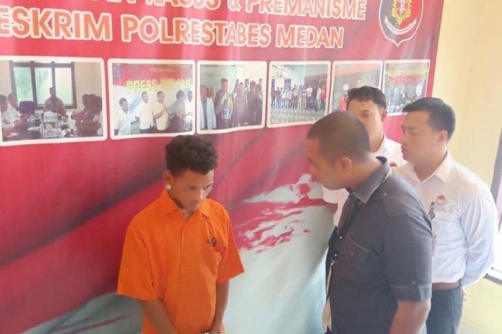 Polrestabes Medan ringkus pelaku  curanmor modus naik becak