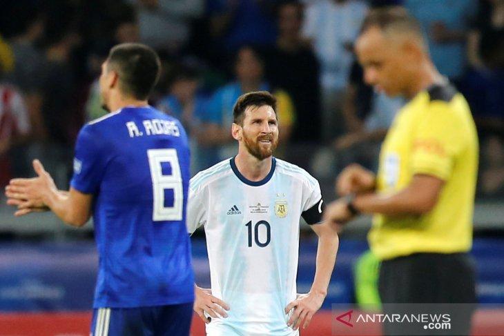 Argentina butuhkan gol penalti untuk dapat imbangi  Paraguay