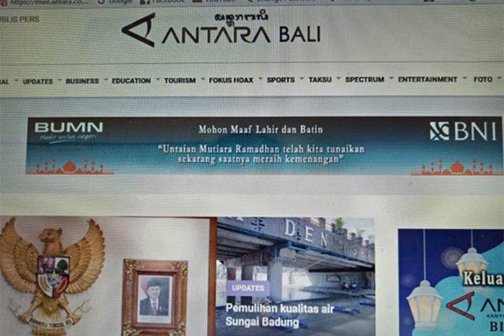 Portal ANTARA Bali pakai nama dengan aksara daerah