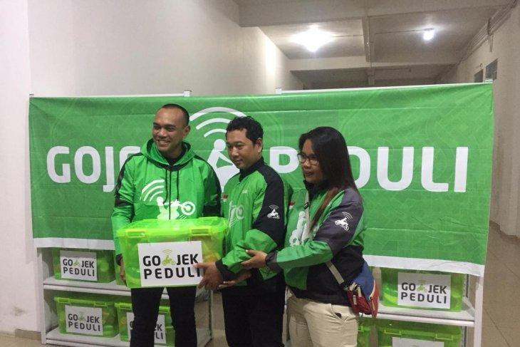 Gojek berikan bantuan korban banjir di Samarinda