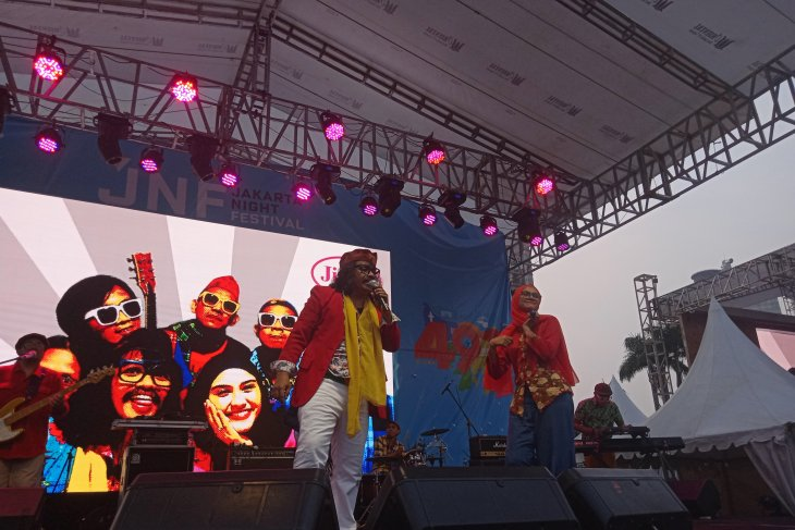 Grup musik Betawi Jiung meriahkan HUT Jakarta
