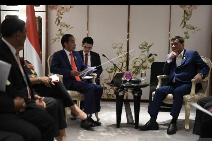 Presiden Jokowi bahas kerja sama keamanan dengan  Duterte