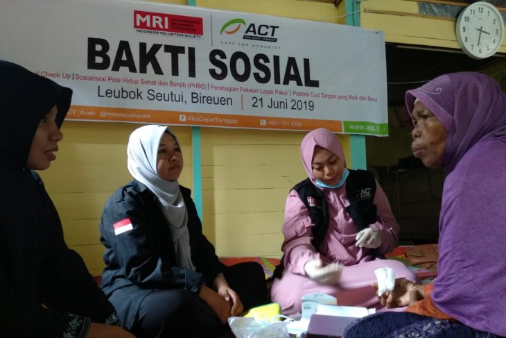 ACT Aceh-MRI tingkatkan pemahaman masyarakat Bireuen pola hidup  sehat