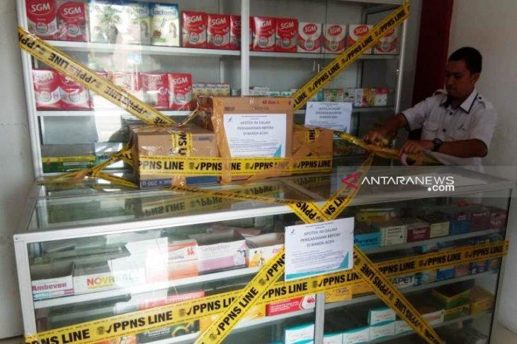 BBPOM Aceh segel apotek diduga ilegal di  Nagan Raya